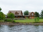 SOLD- Waterfront Turnkey Log Home