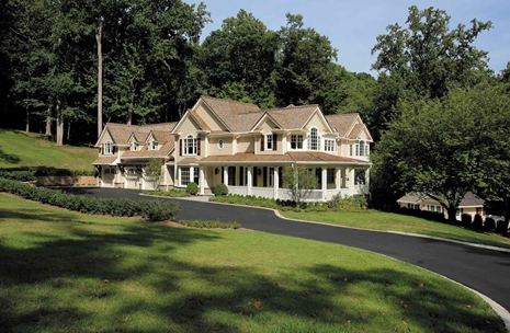 Luxury homes details for early american reproduction estate for Reproduction homes