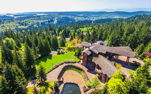 magnificently landscaped equestrian land near Anacortes WA luxury homes